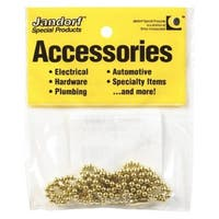"Jandorf 94993 Bead Chain, 36"" Length, Yellow Brass"