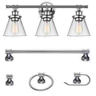 Buy Chrome Finish Vanity Lights Wall Lights Online At Overstockcom - 8 light bathroom bar