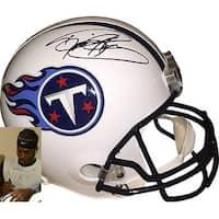 Derrick Henry signed Tennessee Titans Riddell Mini Helmet Steiner Hologram Black top sig