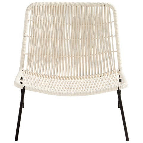 """Cyan Design 10505 Althea 29"""" Wide Iron Framed Cotton Rope Upholstered - White"""