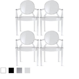 2xhome   Set Of 4, Modern Plastic Chairs Chairs Dining Chairs Clear