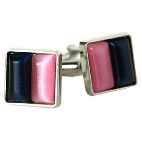 Pink and Blue Cufflinks