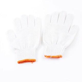Unique Bargains Stretch Cuff Rim Full Finger Cotton Yarn Industrial Working Gloves Pair