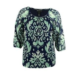 INC International Concepts Women's Cold Shoulder Sequin Top