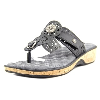 Softwalk Beaumont Laser   Open Toe Leather  Thong Sandal