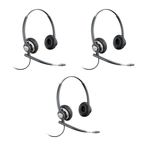 Plantronics Encore Pro HW720 - 3 Pack Stereo Corded Headset