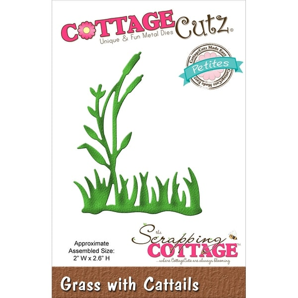 "CottageCutz Petites Die -Grass 2/Cattails 2""X2.6"""