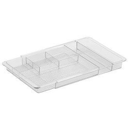 InterDesign 38280 Clarity Expandable Drawer Organizer, Clear