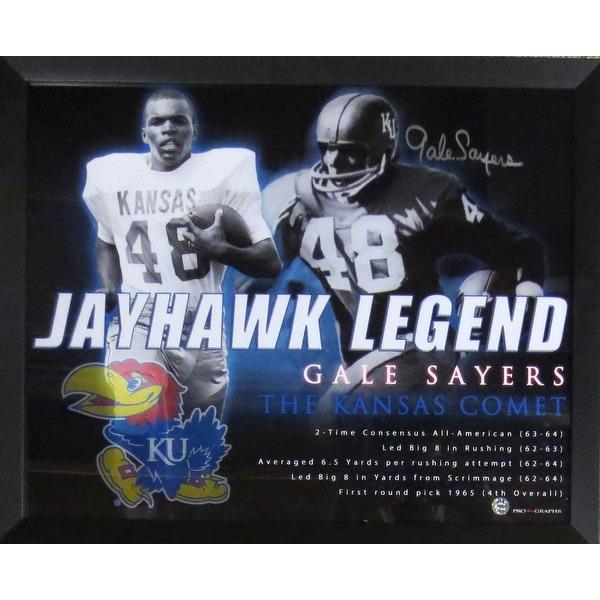 Gale Sayers Autographed Kansas Jayhawks Signed 16x20 Framed Photo