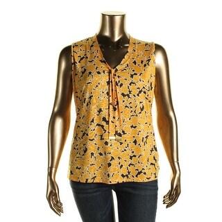 Jones New York Womens Plus Printed Sleeves Blouse - 1X