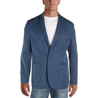 Perry Ellis Mens Two-Button Blazer Slim Fit Long Sleeves