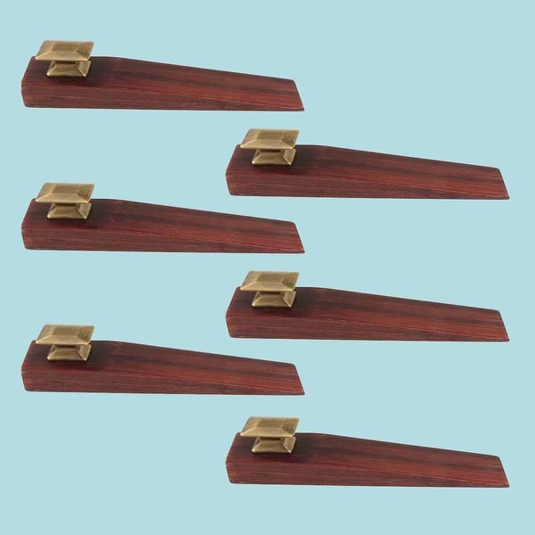 6 Door Wedge Solid Mango Wood Oil Rubbed Bronze Cherry