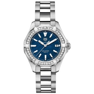 Link to Tag Heuer Women's WAY131N.BA0748 'Aquaracer' Diamond Stainless Steel Watch - Blue Similar Items in Women's Watches
