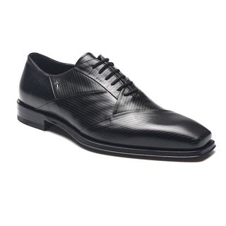 Cesare Paciotti Men Leather Baby Lux Gess Oxfords Black