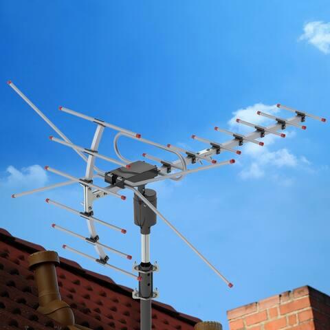 360 Degree Rotation UV 45-230MHz/470-860MHz 15-22dB Outdoorn Antenna Black