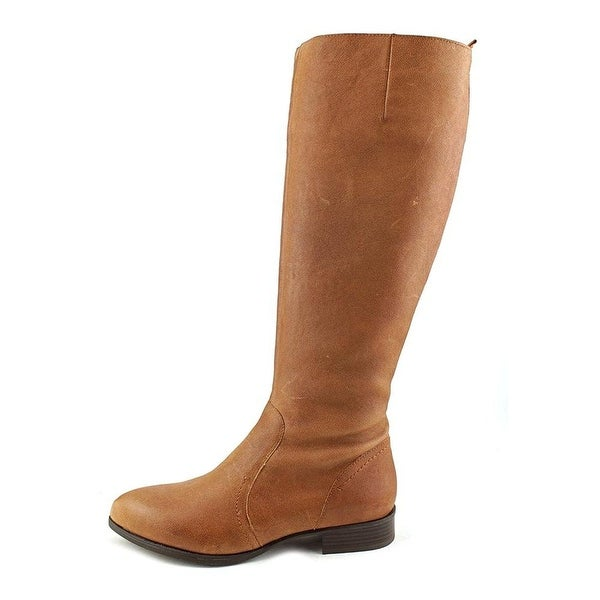 Nine West Womens nicolah Leather Almond Toe Knee High Fashion Boots