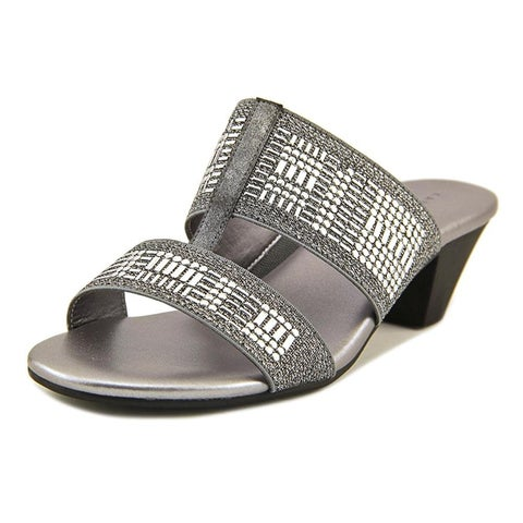 Karen Scott Womens Zana Fabric Open Toe Casual Slide Sandals