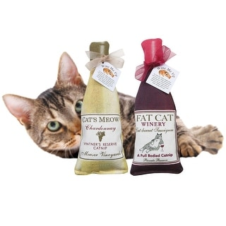 Wine Me Up Fun Catnip Toys - Wine Bottle Shaped