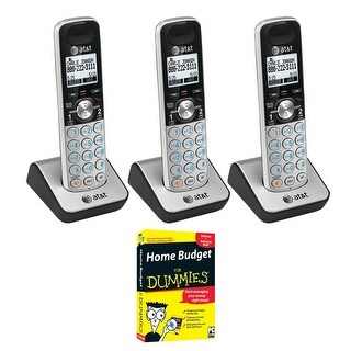 AT&T Dect 6.0 1-Handset 2-Line Telephone (3 Pack) w/ Home Budget for Dummies CD