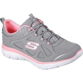 Bungee Lace Sneaker Gray/Pink
