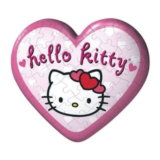 Hello Kitty 3D Puzzleball Hanging Heart Set - Pink - 10.0 in. x 2.0 in. x 5.0 in.