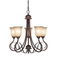 Craftmade 21725 Preston Place Single Tier 5 Light Chandelier - 25 Inches Wide