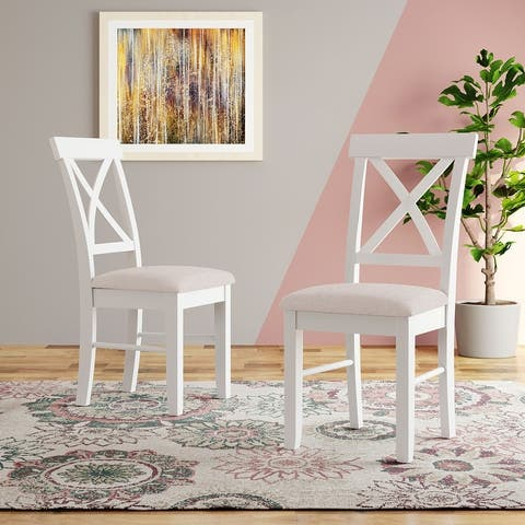 AOOLIVE linen fabric Dining Chair Kitchen Chairs Set of 2