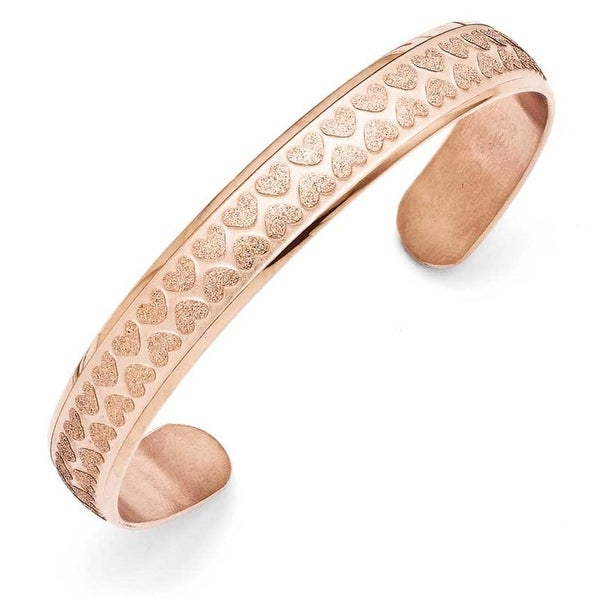 Chisel Stainless Steel Rose Gold Cuff Bangle