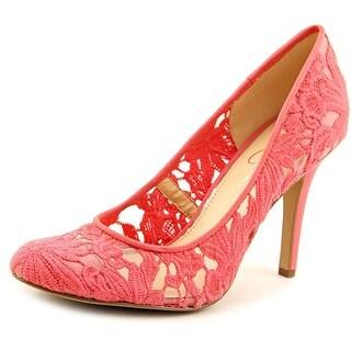 Jessica Simpson Amilee Women Round Toe Canvas Heels