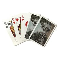 St. Augustine, Florida - View of St. George St. #1 (Poker Playing Cards Deck)