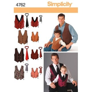 Simplicity Boys' And Men's Vests And Tie-S M L/S M L XL - s m l/s m l xl