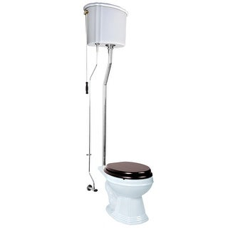 White High Tank Toilet, Elongated Bowl, Chrome L-Pipe|https://ak1.ostkcdn.com/images/products/is/images/direct/1e8cd7858c19e625aa4fa2c2de42fc131f358390/White-High-Tank-Toilet%2C-Elongated-Bowl%2C-Chrome-L-Pipe-%7C-Renovator%27s-Supply.jpg?_ostk_perf_=percv&impolicy=medium