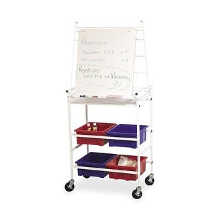 Balt BLT33325 4 in. Easel Cart with Wheels, White