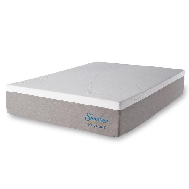 Slumber Solutions Gel Memory Foam Choose Your Comfort Mattress - White
