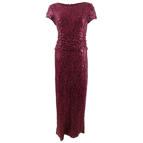 SL Fashions Women's Sequined Lace Gown