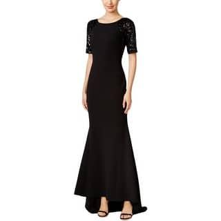 Calvin Klein Womens Formal Dress Sequined Short Sleeves 2