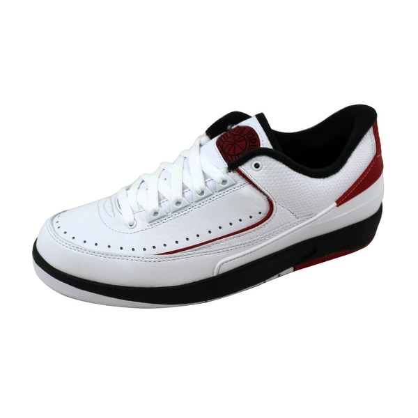 Nike Men's Air Jordan II 2 Retro Low Chicago White/Varsity Red-Black 832819-101