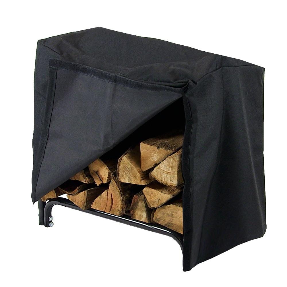 Sunnydaze Decorative Firewood Log Rack - Multiple Sizes - Black - Thumbnail 26