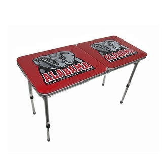 University of Alabama Crimson Tide Folding Aluminum Tailgate Table - Red