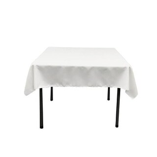 TCpop52x52-WhiteP11 Polyester Poplin Square Tablecloth, White -