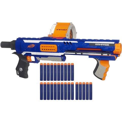 Nerf Rampage N-Strike Elite Toy Blaster with 25 Dart Drum