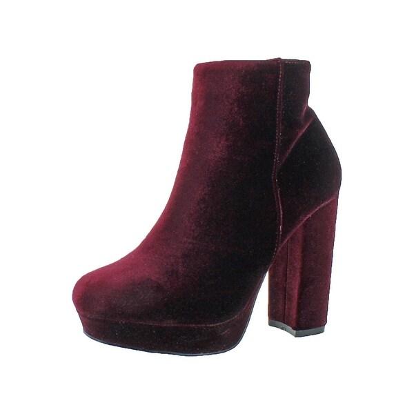 046943073552 Shop Steve Madden Womens Pacie Ankle Boots Velvet Platform - Free ...
