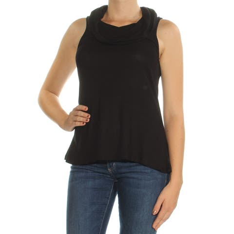 ULTRA FLIRT Womens Black Sleeveless Cowl Neck Top Juniors Size: M