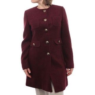 Kenneth Cole NY  Wool Blend Button Up Coat Basic Coat Concord