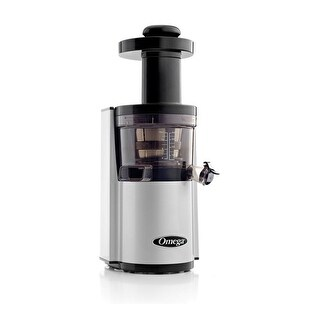 Omega Juicers VSJ843RS Vertical Masticating Juicer, 43 RPM, Silver & Black