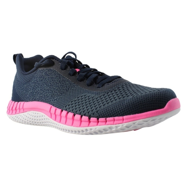 f0799988175e83 Reebok Womens Rbk Print Run Prime Ultk Avon-collNavy SmallIndigo Running  Shoes Size 8