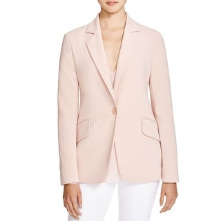 Theory Womens Brixmill One-Button Blazer Long Sleeve Notch Collar