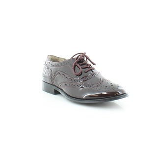 Wanted Babe Women's Flats & Oxfords Burgundy Patent - 5.5