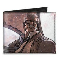 James Gordon Close Up Lights Pose Grays Canvas Bi Fold Wallet One Size - One Size Fits most