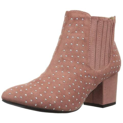Qupid Womens Skipper-03 Almond Toe Ankle Chelsea Boots